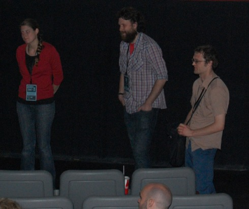 Jessica Oreck and her team at the Q and A after the film